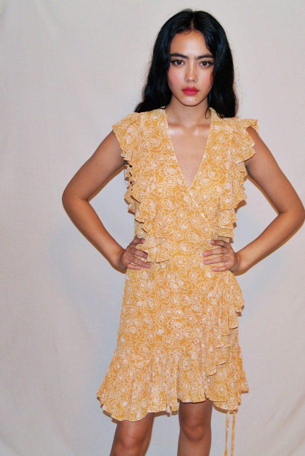 c7a1f8bde629b Siena Ruffle Wrap Mini Dress | The Style Capsule